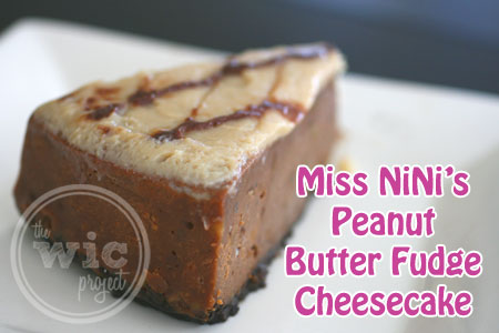 Miss NiNi's Peanut Butter Fudge Cheesecake