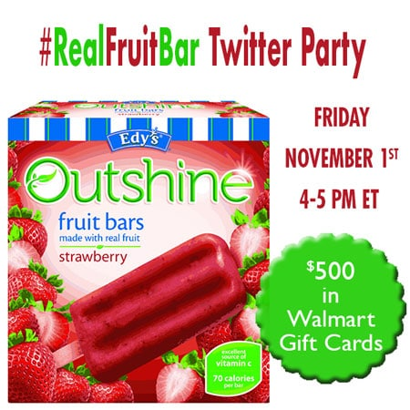 #RealFruitBar Twitter Party - 11/1, 4-5PM EST