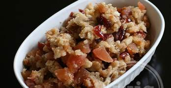 12-Minute Apple Cranberry Stuffing #Lucky13