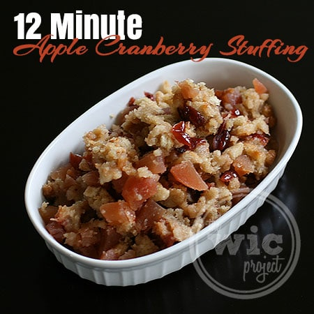 12 Minute Apple Cranberry Stuffing