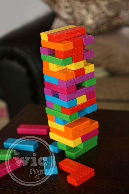 Playing Jenga Tetris