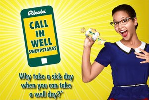 """Ricola """"Call in Well"""" Sweepstakes"""