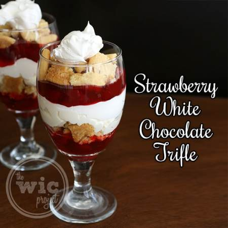 Strawberry White Chocolate Trifle