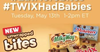 Save the Date: RSVP for the #EatMoreBites #TWIXHadBabies Twitter Party – 5/13, 1-2PM EST – $550 in Prizes!