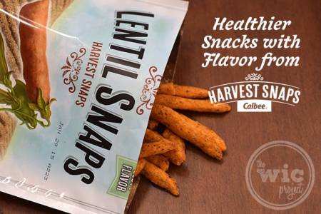 Harvest Snaps Lentil Snaps Onion Thyme
