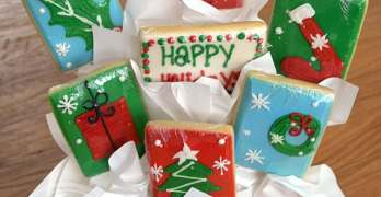 Delcious, Hand-Decorated Cookie Bouquet Gifts from Cookies by Design
