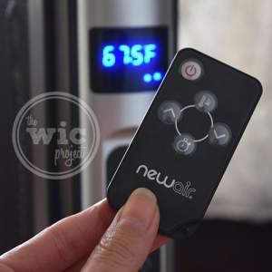 NewAir AH-470 Space Heater Review - Remote Control