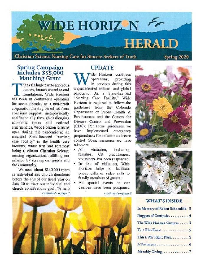 2020 Spring Wide Horizon Herald News
