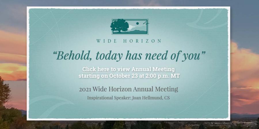 2021 Annual Meeting Announcement