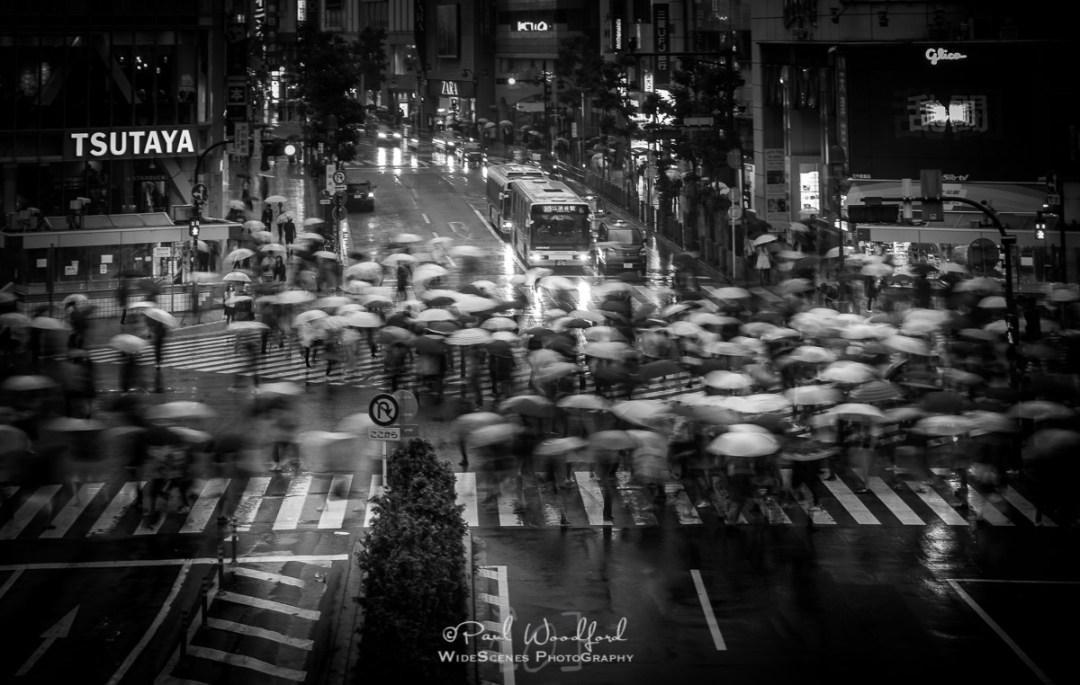 Wet day at Shibiya Crossing, Shibuya