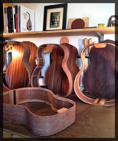 Wide Sky Guitars, in the shop