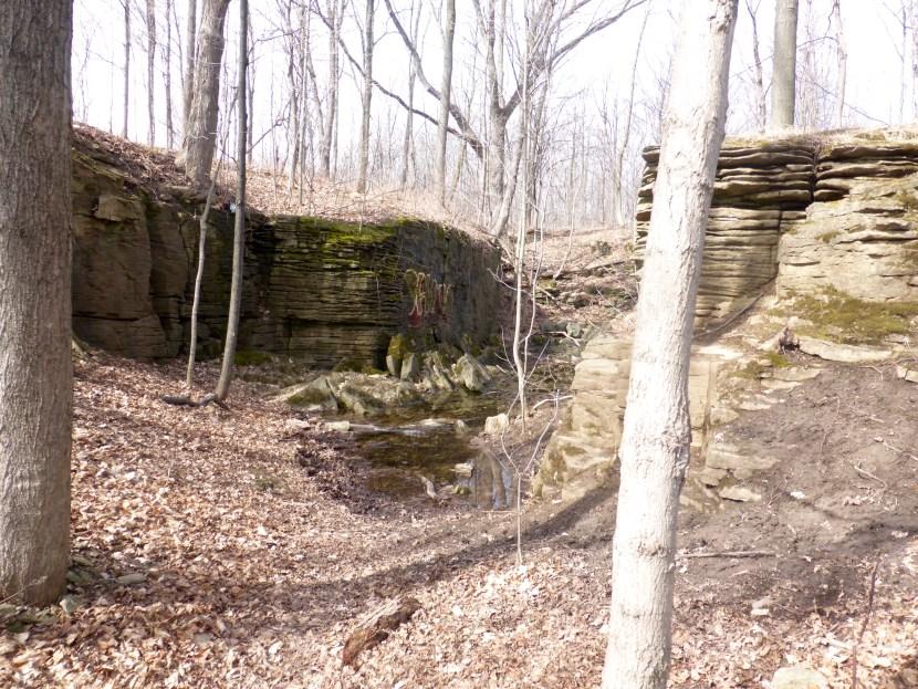Exposed limestone