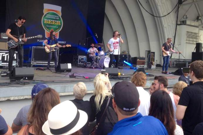 I love how close you can get to the band when at the CNE bandshell.