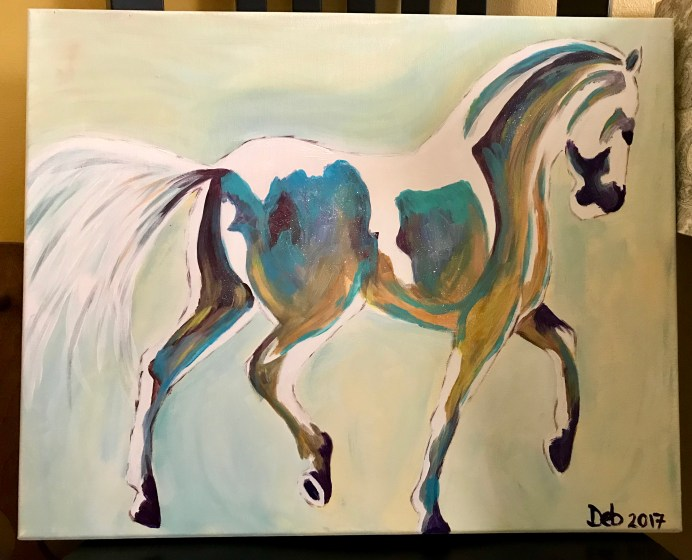 Acrylic Painting of Horse
