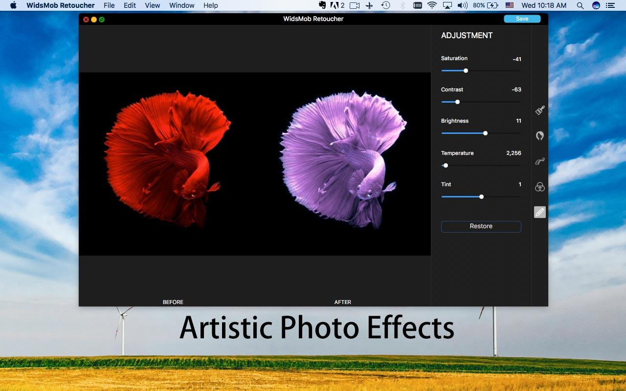 WidsMob Retoucher for Mac 2.2 激活版 - 照片美化多功能照片编辑器