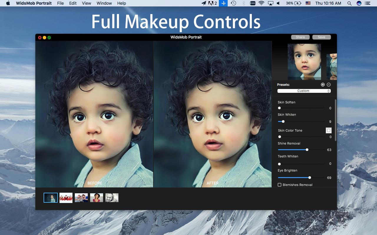 WidsMob Portrait Pro 2.4 Mac 破解版 - 专业照片编辑软件