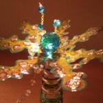 Lichtblume mit Kristal