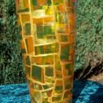 grüngoldene Vase
