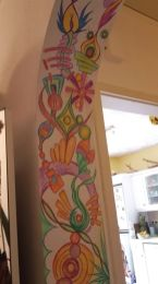 Wandmalerei Innenbogen Buntstift 1
