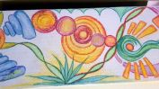 Wandmalerei Innenbogen Buntstift 3