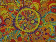 Wandmalerei Mandala Tusche
