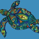 musterlebensform schildkröte bunt