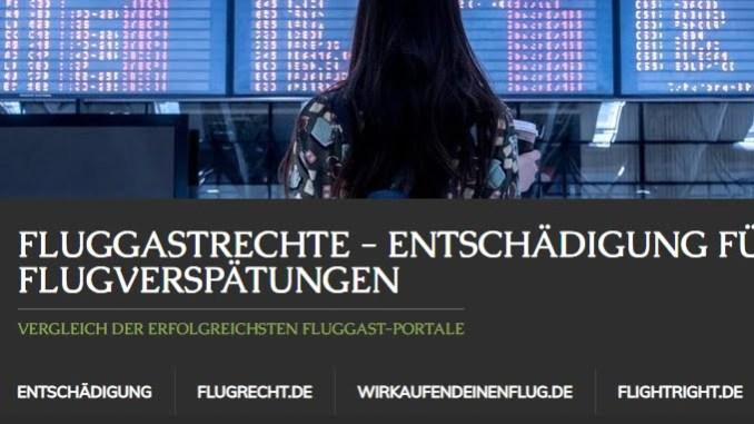 Portal für Entschädigungen bei Flugausflällen