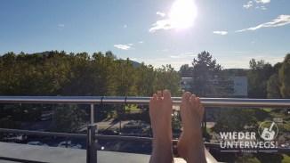 Auf der Terrasse des AYN