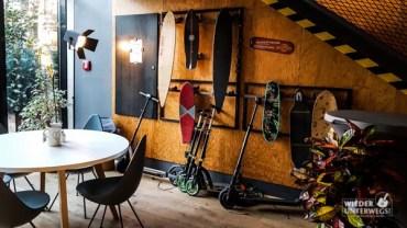Zum Ausborgen: Skateboards und Roller, äh Scooter