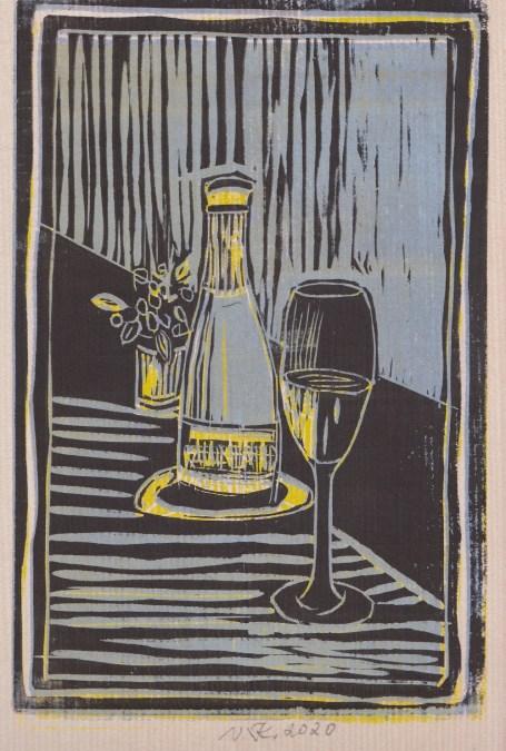 Holzschnitte von Vincent Klink auf handgeschöpftem Büttenpapier