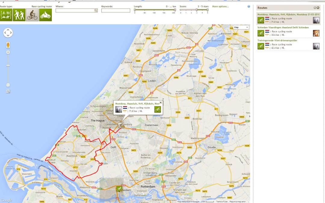 Talloze routes op Routeyou.com