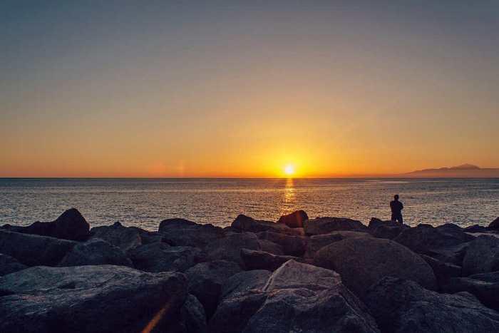 Zachód słońca kanary