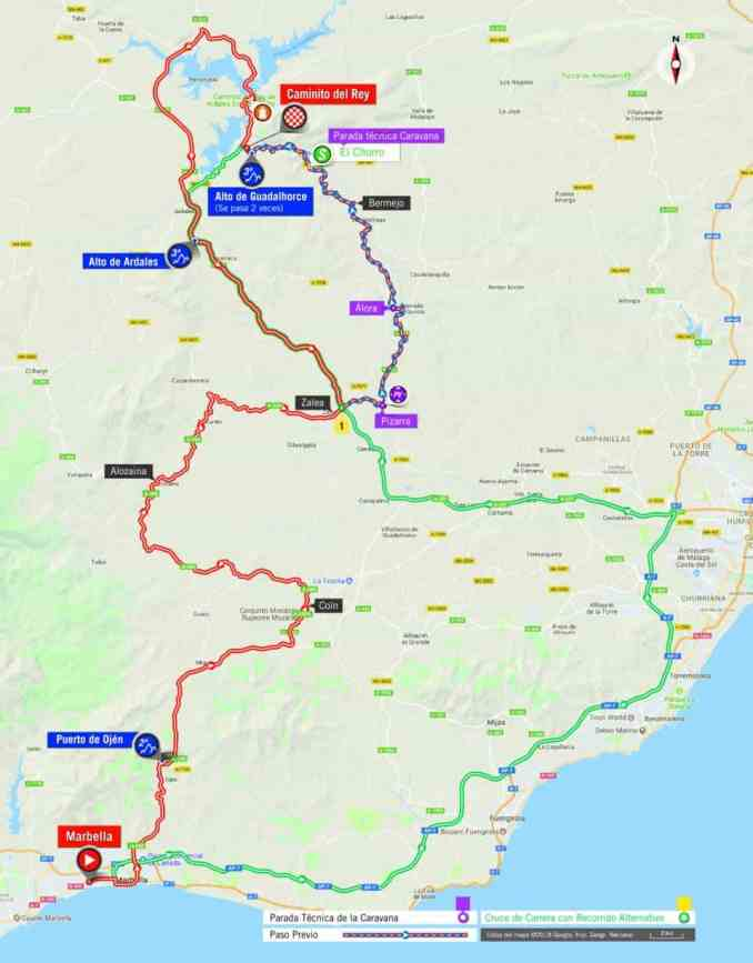 wielrenschoenen-nl Vuelta-2018-route-etappe 2