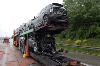 Lkw Unfall A3 LM 2