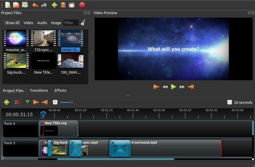 Openshot Screen