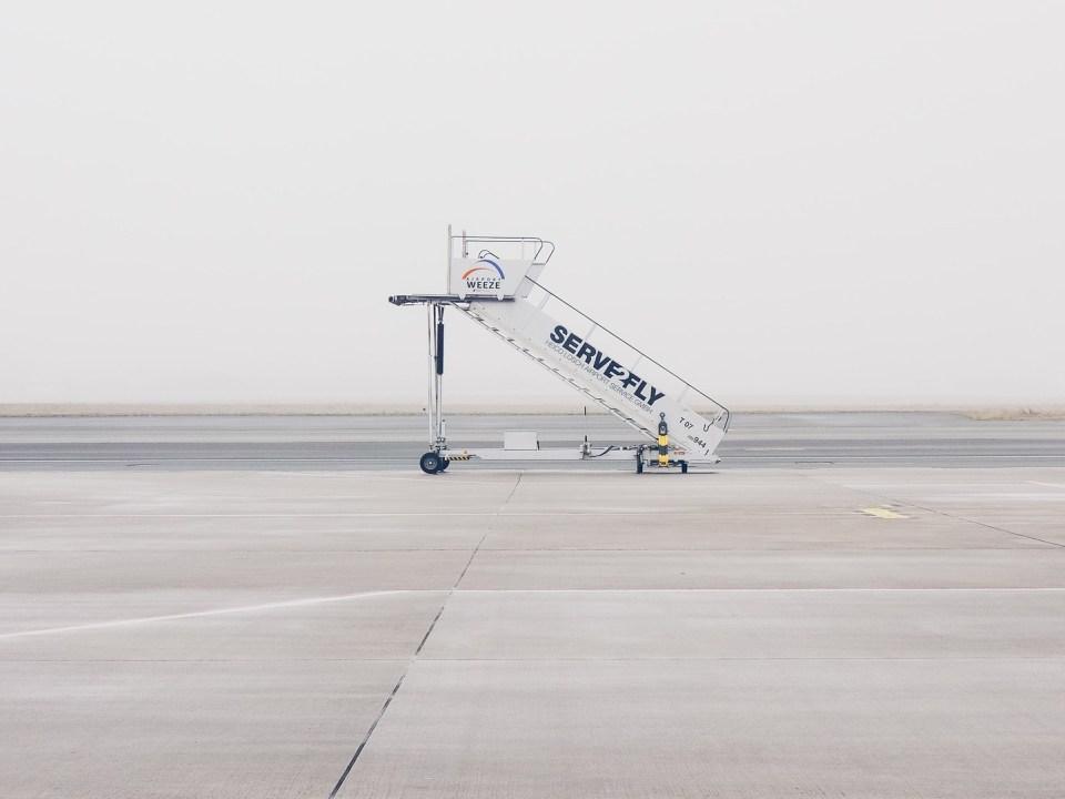 Flugzeugtreppe