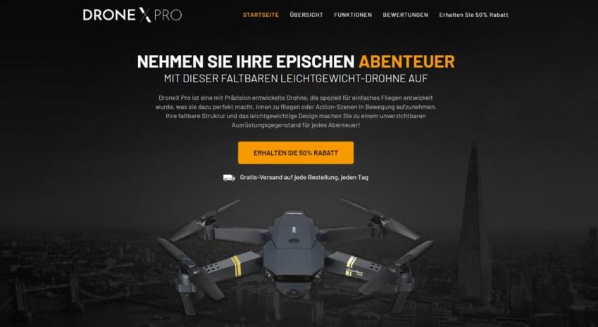 DroneX Webseite