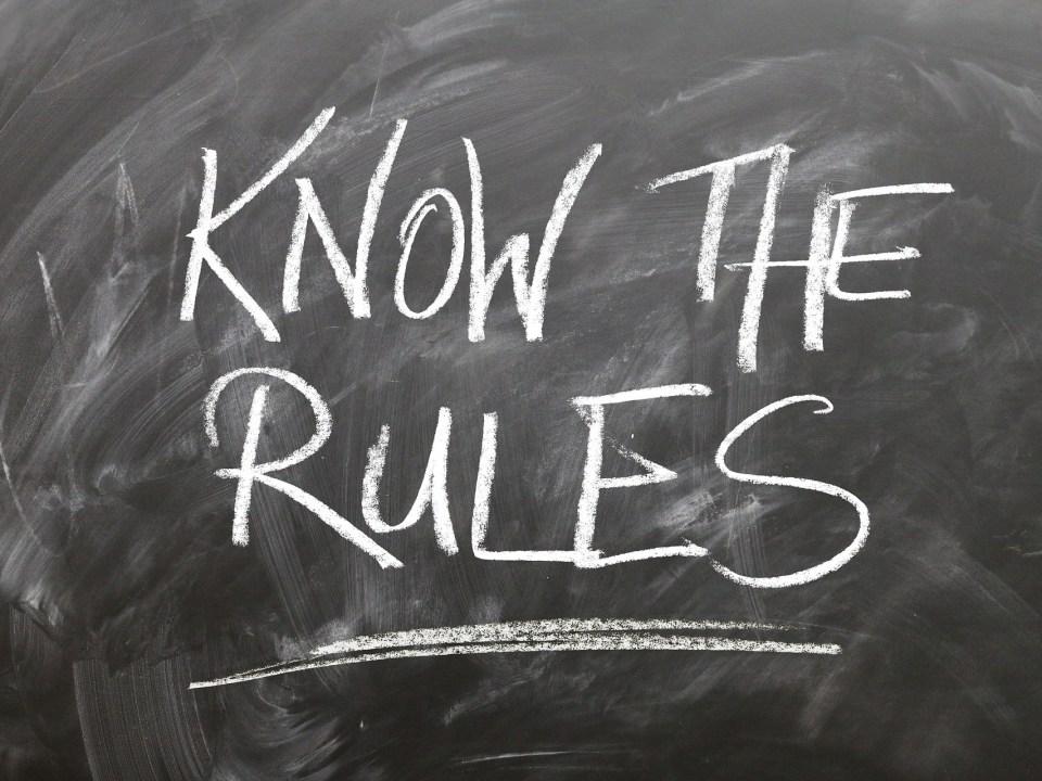 Kenne die Regeln
