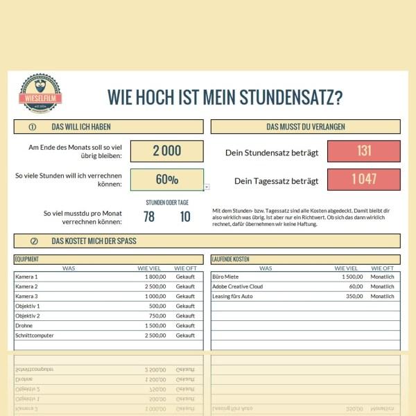 Stundensatz Kalkulation für Freelancer