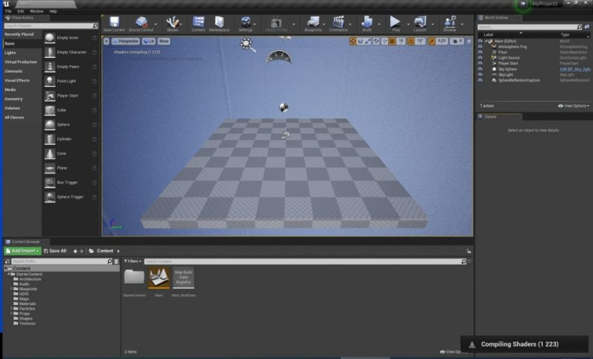 Unreal Editor Screenshot