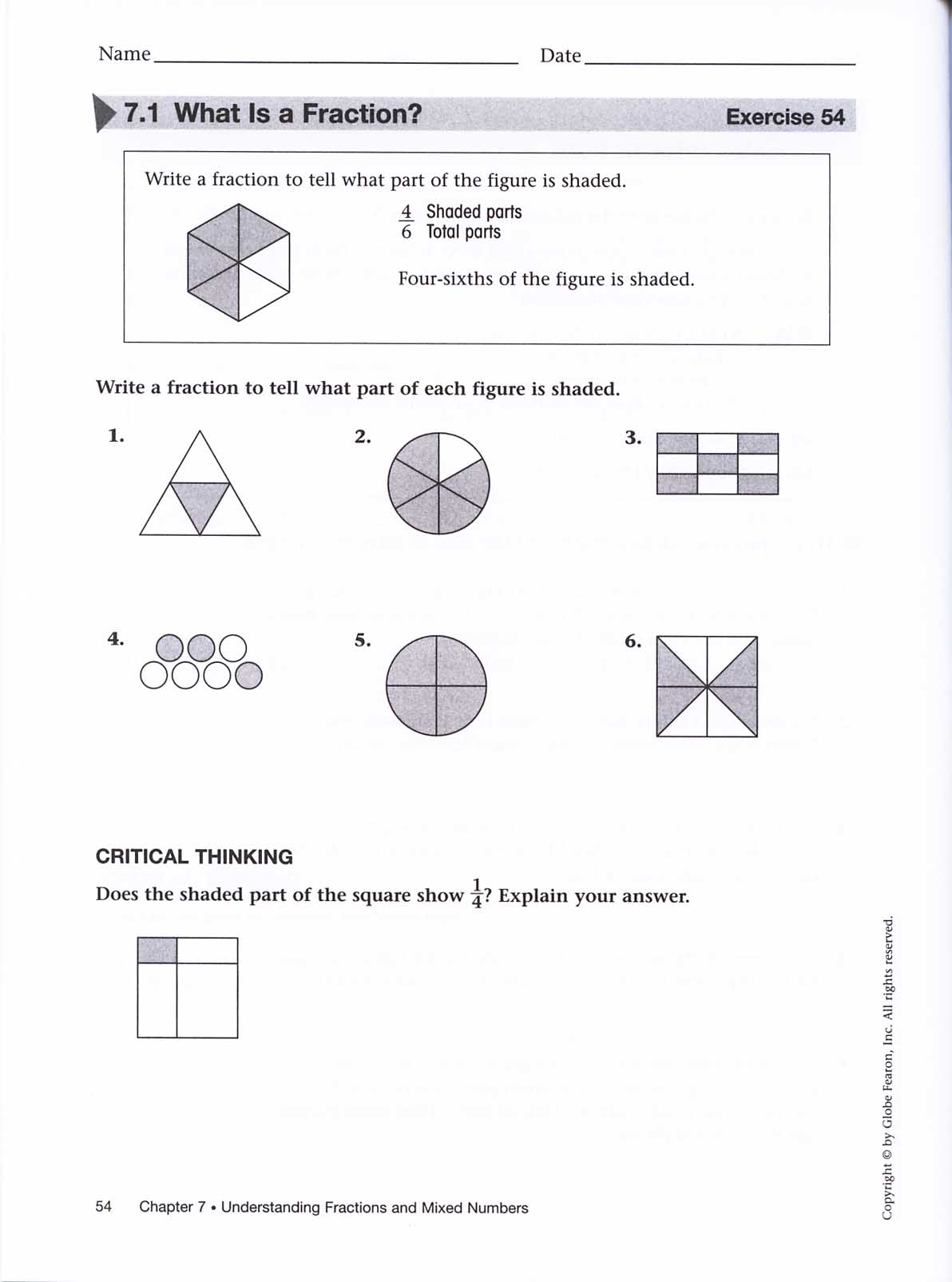 Pacemaker Basic Mathematics Student Workbook