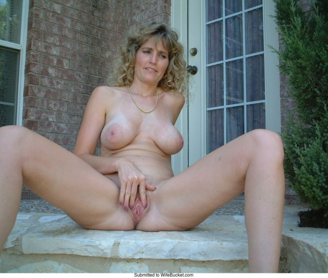 Here Is Pierres Hot French Wife Posing Naked At Home Well Right Outside The House To Be Precise This Is Why Frontal Nudity Is Great You Get To Enjoy