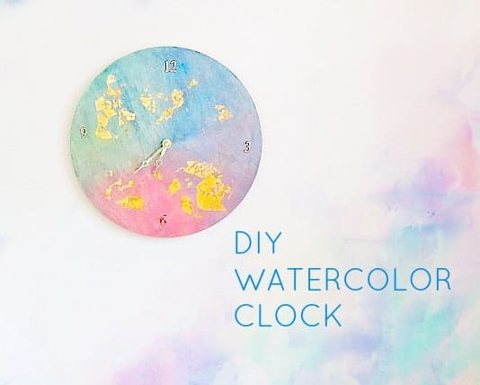 diy watercolor clock