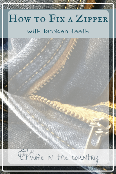 How to Fiz a Zipper with broken or missing teeth