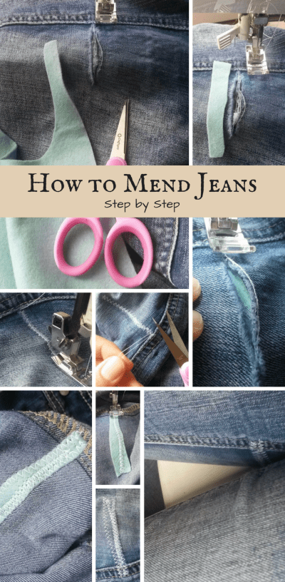 How to mend jeans in 5 easy steps with pictures