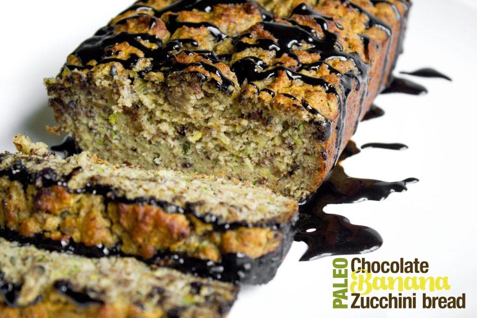 Paleo Chocolate Banana Zucchini Bread {Grain, Gluten, Dairy Free}