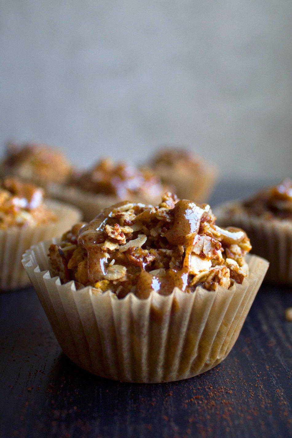 Glazed Pumpkin Crumb Muffins {Gluten-Free, Dairy-Free}