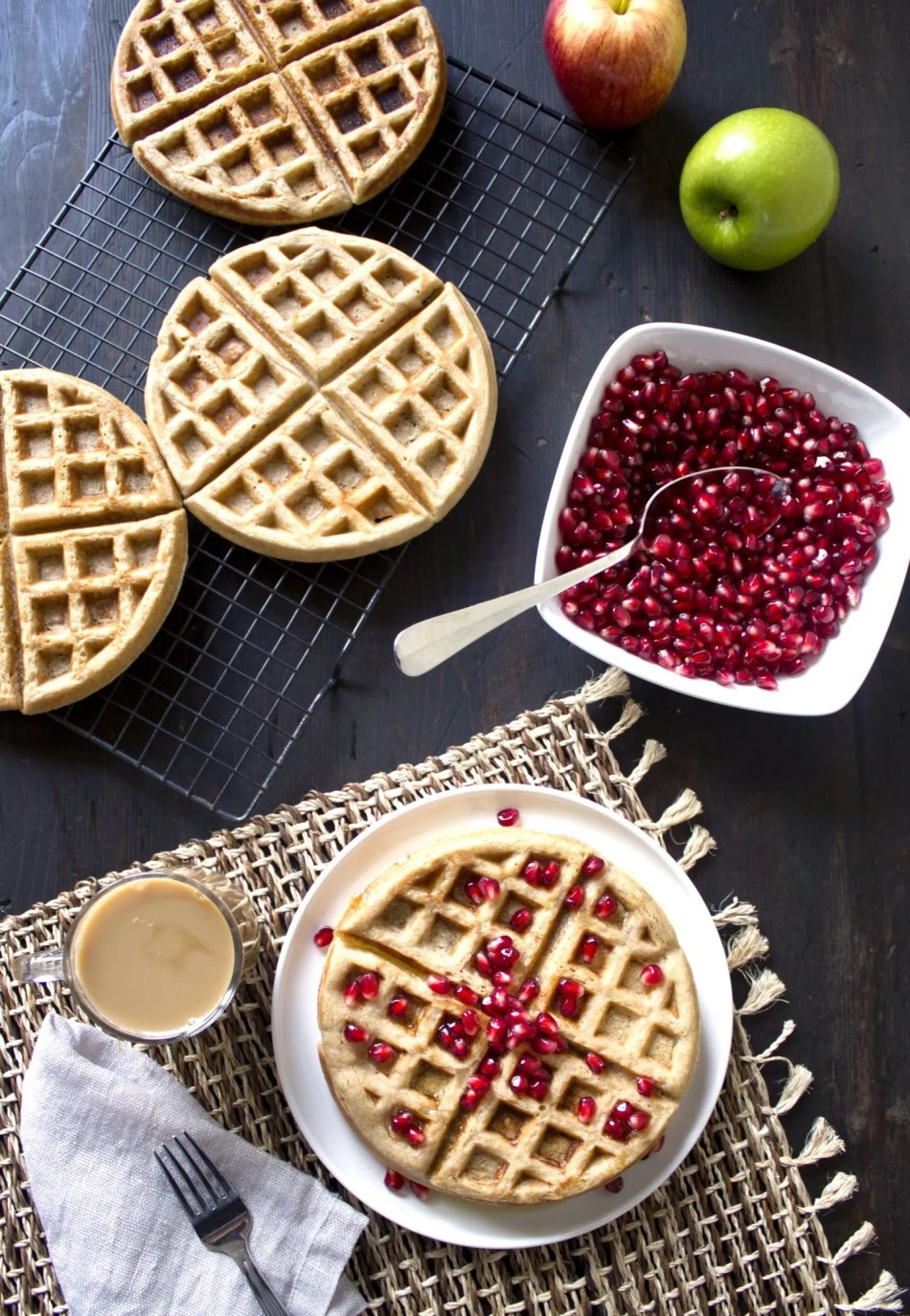 Apple-Cinnamon Waffles   gluten, dairy, and refined sugar free!