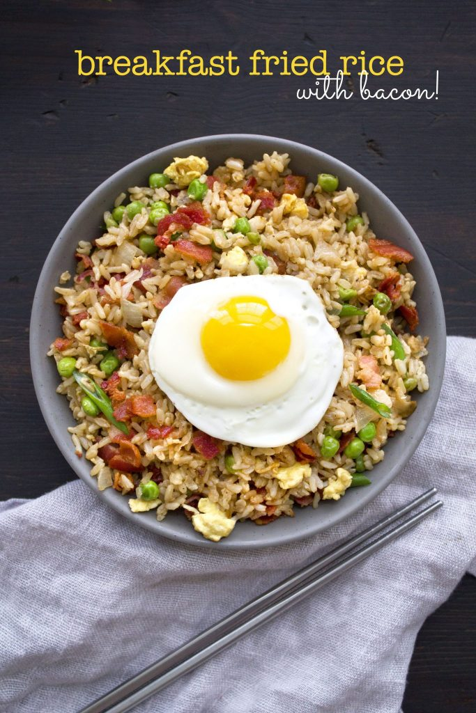 Breakfast Fried Rice | A different but delicious way to eat bacon and eggs!