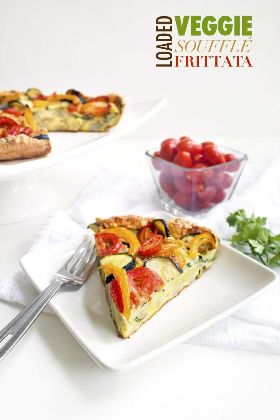Loaded Veggie Soufflé Frittata | Paleo and Whole30 friendly!